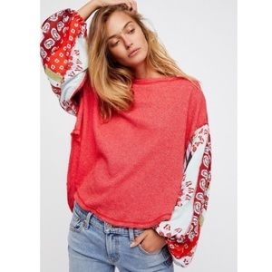 Free People Blossom Balloon Sleeve Thermal
